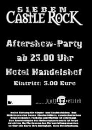 Castle Rock 7, Tickets Aftershow Party, Handelshof