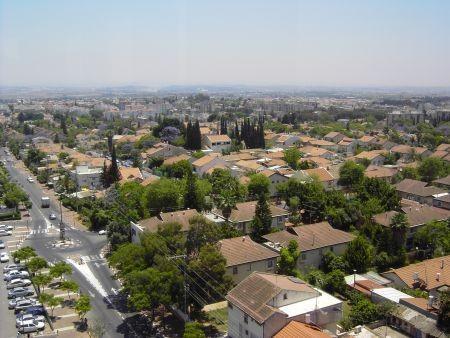 Blick vom Wasserturm der Stadt Kfar Saba