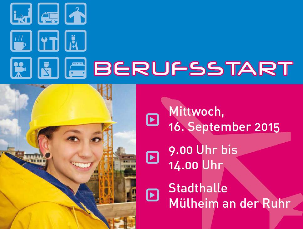 Ausschnitt aus dem Plakat zur Ausbildungsmesse BERUFSSTART 2015.