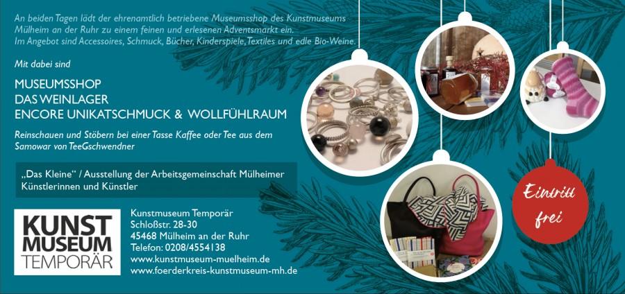 Adventsmarkt 2019, Museumsshop, Kunstmuseum Mülheim an der Ruhr - Kunstmuseum Mülheim an der Ruhr, Copyright Jan Kromarek
