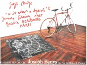 "Joseph Beuys. ""is it about a bycicle""? , Galerie Beaubourg, Paris 1985, Farboffset