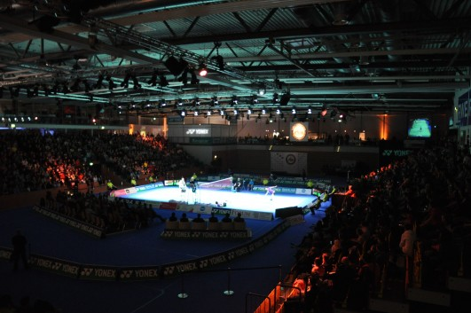Foto der Yonex German Open 2012 in der RWE-Sporthalle in Mülheim an der Ruhr
