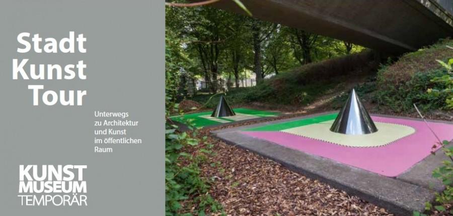 Vorderseite Flyer StadtKunstTouren 2021, Kunstmuseum Mülheim an der Ruhr - Kunstmuseum Mülheim an der Ruhr