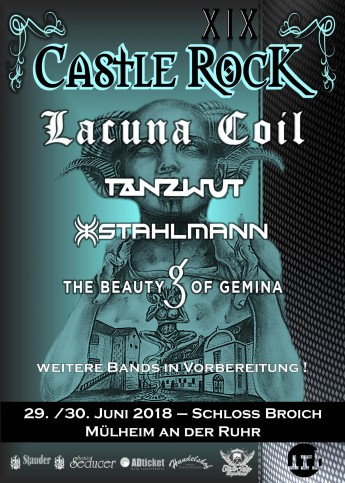 Castle Rock 18 mit Lacuna Coil, Stahlmann, The Beauty Of Gemina, Tanzwut u. v. a.