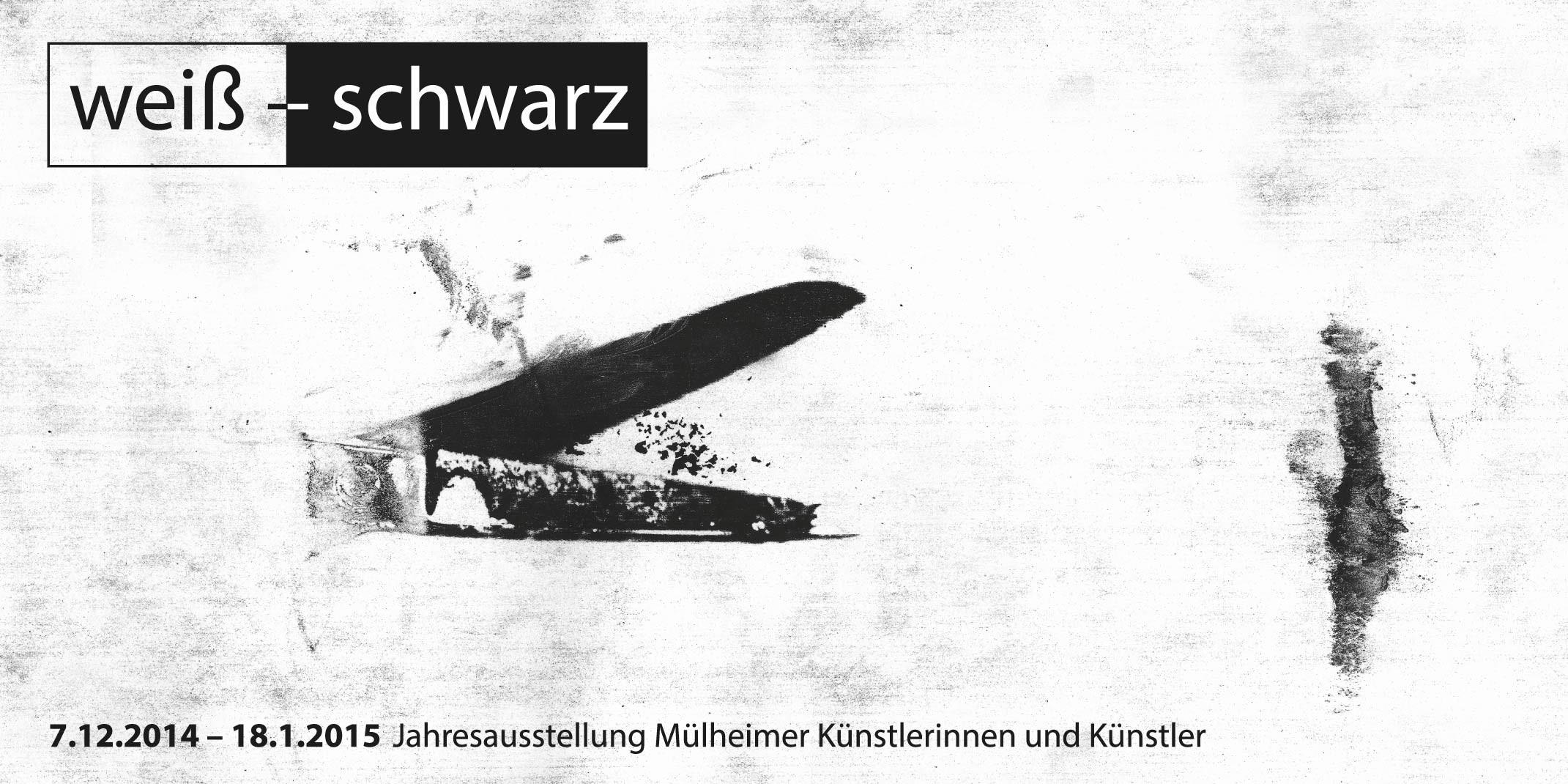 Einladungskarte zur Jahresausstellung Mülheimer Künstlerinnen & Künstler, 7.12.2014 bis 18.1.2015 | Vorderseite