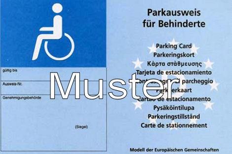 Blauer Eu Parkausweis Parkgenehmigung Fur Schwerbehinderte Stadt Mulheim An Der Ruhr