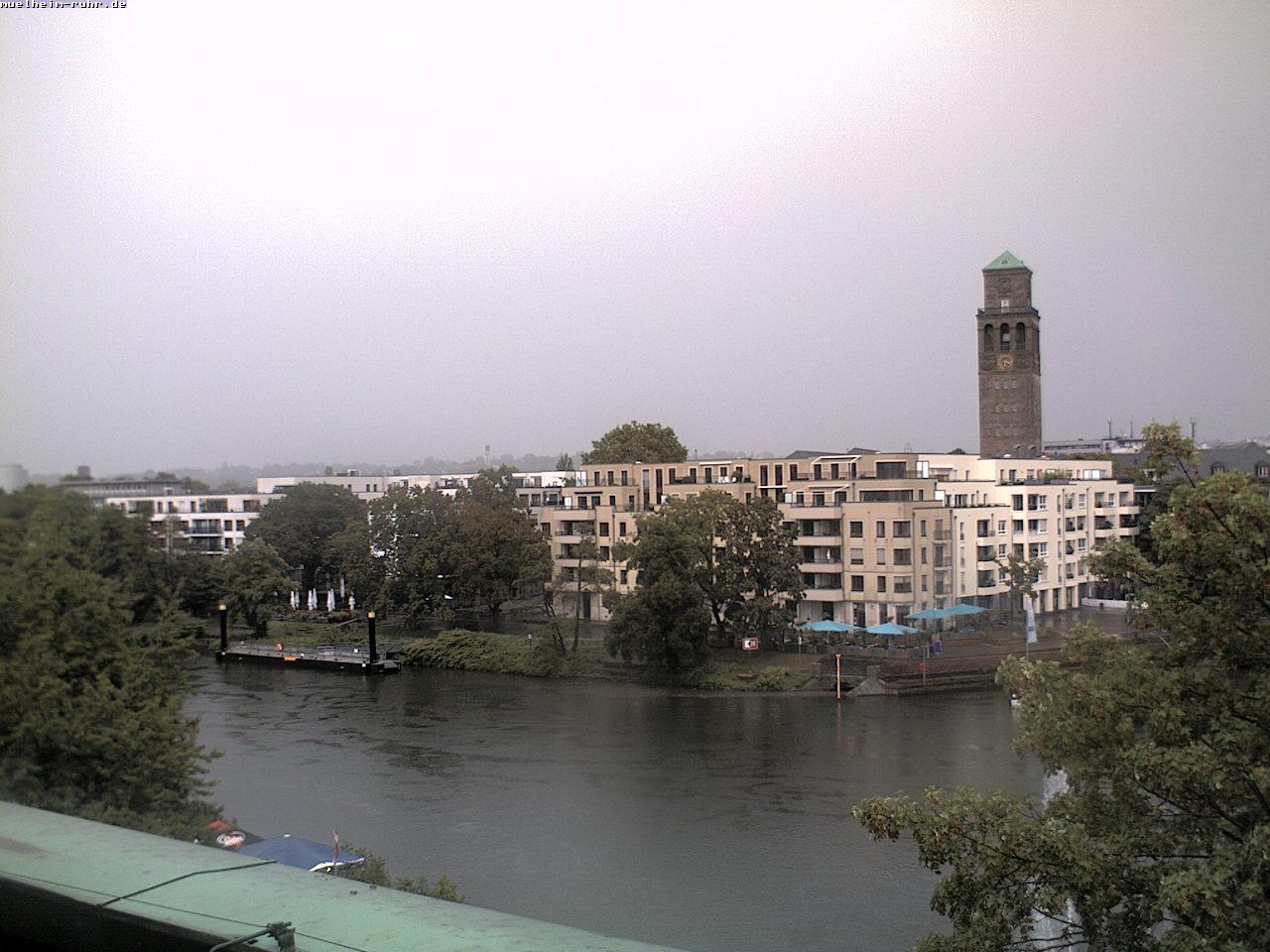 Blick von der Stadthalle auf die Ruhrpromenade